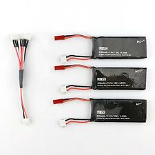 3 x7.4V15C 610mAh Battery & Charging Cable for  Hubsan H502S H502E RC Quadcopter