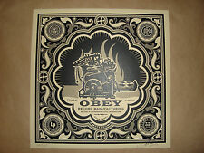 Shepard Fairey Printing Press album cover Obey Giant  signed poster print Banksy
