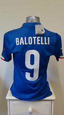 BNWT Italy Home Football Shirt Jersey 2014-2015 BALOTELLI 9 Small