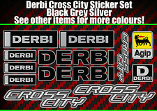 Derbi Cross City stickers Crosscity SM Senda supermoto 50 125 black/silver