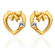 Gold Plated Love Birds Earrings with Crystals for Women by Mahi ER3694G