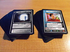 STAR TREK CCG TROUBLE WITH TRIBBLES COMPLETE SET OF COMMON AND UNCOMMON CARDS