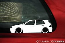 2x LOW Mk4 Golf 1.8t, R32,GTi (5 door)outline stickers