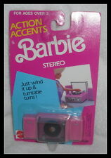 ACCESSORY NRFP MATTEL BARBIE DOLL ACTION ACCENTS WIND UP STEREO FOR  DIORAMA