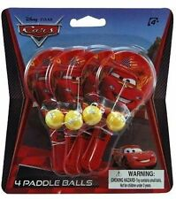 Cars Mini Paddle Balls 4-pack
