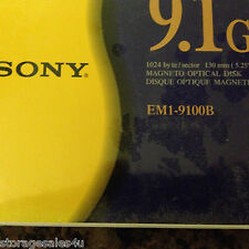 Sony EM1-9100B REWRITABLE Magneto Optical Media - NEW & SEALED 1024 byte/ sector