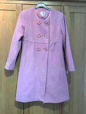 Next Girls Pink Smart Long Winter Coat Age 11 12 Years