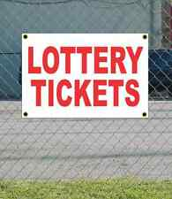 2x3 LOTTERY TICKETS Red & White Banner Sign NEW Discount Size & Price FREE SHIP