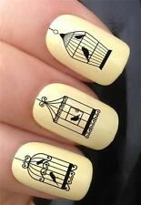 WATER NAIL TRANSFERS VINTAGE BIRDCAGE SELECTION LOVEBIRDS DECALS STICKERS *351
