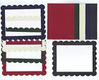 Gemstone Scallop Rectangle Cardstock Sizzix Die Cut Photo Frames Set of 5