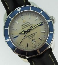 Breitling SuperOcean Heritage Automatic Silver Dial Blue Bezel Diver A17320