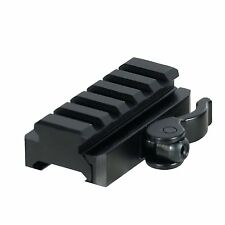 UTG MNT-RSQD605 5-Slot QD Lever Mount Adaptor and Riser, Medium Profile