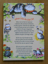 Leanin Tree Magnet WHEN I AM AN OLD CAT POEM, Cats Margaret Sherry Made in USA