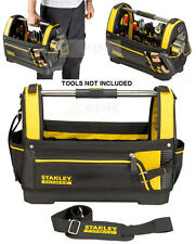 """NEW Stanley FatMax 460mm 18"""" Hard Base Open Tote Tool Storage Bag STA193951"""
