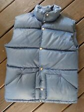 NORTH FACE true vintage made USA down fill ski puffer vest LARGE