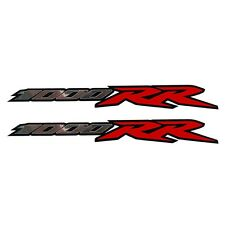 1000RR fireblade Motorcycle decals graphics Silver chrome and red on black