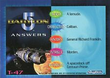 BABYLON 5 Special Edition Complete TRIVIA Card LOT!!! NM/M 17 Cards