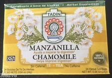 Tadin Manzanilla Tea Chamomile (24 Bags) Helps Improve Digestion