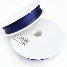 100 Meter (1 roll) Deep blue Tiger Tail Beading Wire/0.38