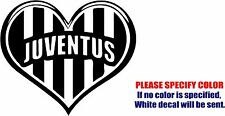 Vinyl Decal Sticker - Juventus FC Love Heart Car Truck Bumper Window JDM Fun 9""