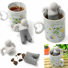 Mr tea infuser silicone man silicone Leaf Strainer Herbal Spice Infuser cute