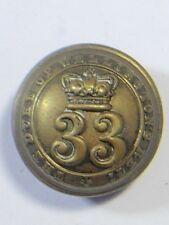 33rd (Duke of Wellingtons) Foot original o/r's (1855-71) Large  Button.