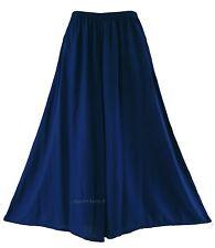 Navy blue Women Palazzo Wide Leg Pants Trouser Plus Size 1X 2X 20 22