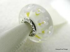 NEW! PANDORA CHARM FIELD OF DAISIES GLASS MURANO #791623  P