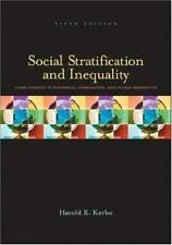 Social Stratification and Inequality Kerbo, Harold R Paperback
