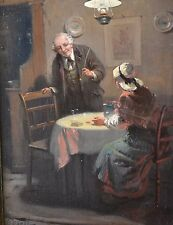 "Original Antique Genre oil painting ""A Welcome Rest"" Alexander Rosell 1859-1922"
