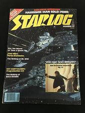 STAR WARS 1980 HAN SOLO HARRISON FORD STARLOG MAGAZINE , STAR TREK, DR WHO. NICE