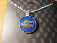 FLORIDA GATORS Licensed NCAA Collegiate Campus Chic Stainless Steel NECKLACE