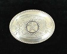 Crumrine Western Belt Buckle Texas Star Silver 3806444