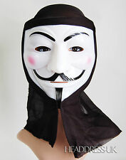 V De Vendetta Pvc Máscara Con Capucha Fancy Dress hoguera de noche Fiesta De Disfraces