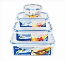 New 4 Piece Stackable Clip Lock Air Tight Food Storage Kitchen Container Set