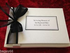 Personalised Book Condolence Funeral Memory Message Guest Book Bereavement
