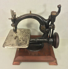 Antique Willcox & Gibbs Sewing Machine Mounted on Wood Base Pat'd July 4th 1871