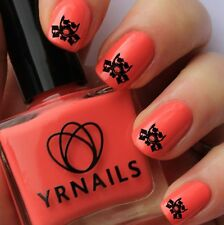 Nail WRAPS Nail Art Water Transfers Decals - Gas Mask - S573