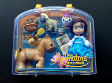 "DISNEY Store ANIMATORS Collection 5"" BELLE Mini DOLL PLAY SET w/Case NWT"