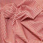 "RED 1/8"" Gingham Check poly cotton material sold by the metre 115cm"