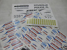 Bill Bozo 1/43  Police Decals - Titusville FL - Markings For 14 Cars
