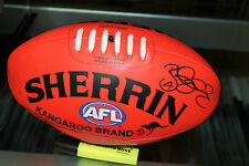 CARLTON - BRYCE GIBBS HAND SIGNED SOFT TOUCH FOOTBALL + PHOTO PROOF & C.O.A