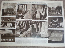 Photo article Argentina exhibition of Peron riches clothes jewellry 1955
