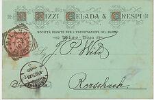 I 1894 König Umberto I 10 C. karmin auf herrlicher Firmenzier-Postkarte MILANO