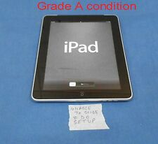"APPLE iPAD 9.7"" TABLET 1ST GENERATION 32GB WIFI & 3G FAIL TO SLIDE and SETUP"