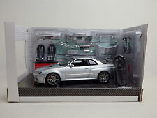 NISSAN SKYLINE GT-R V-SPECⅡ BNR34 2002 NISMO Z-tune Silver 1:24 HOT WORKS USED