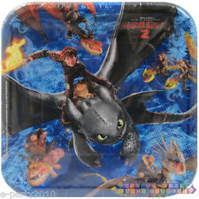 HOW TO TRAIN YOUR DRAGON 2 LARGE PAPER PLATES (8) ~ Birthday Party Supplies