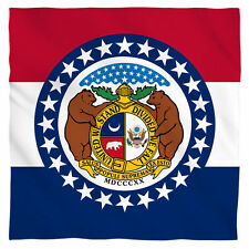 """Bandana - The State Of Missouri United We Stand Divided We Fall Flag (22x22"""")"""