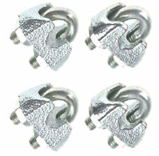 4 PACK GALVANISED WIRE ROPE GRIPS 5MM
