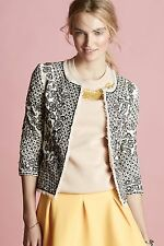 132646 Nw $268 Essentiel Antwerp Anthropologie Etched Blooms Jacket Blouse Top M